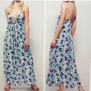 FREE PEOPLE Mulberry Floral Maxi Dress EUC